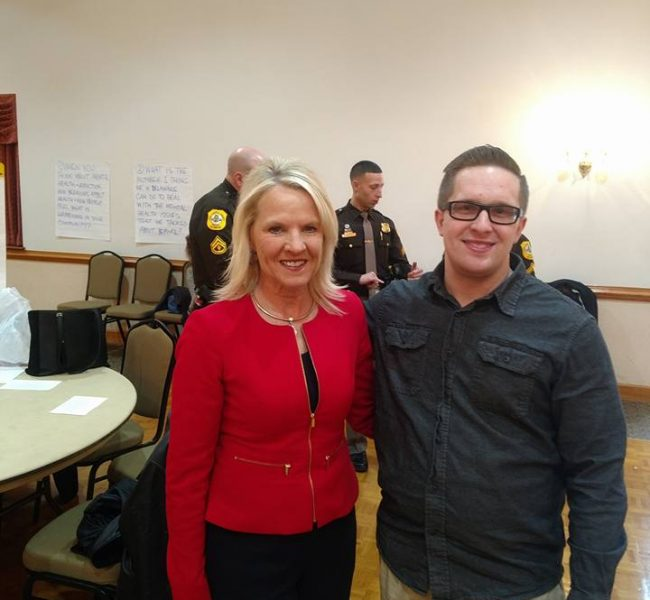 MET WITH LT. GOVERNOR AT OPIATE CRISIS FORUM